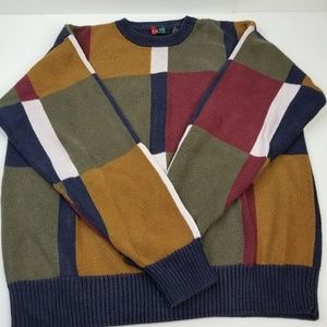 VTG BACHRACH MENS XL SWEATER COSBY STYLE SWEATER